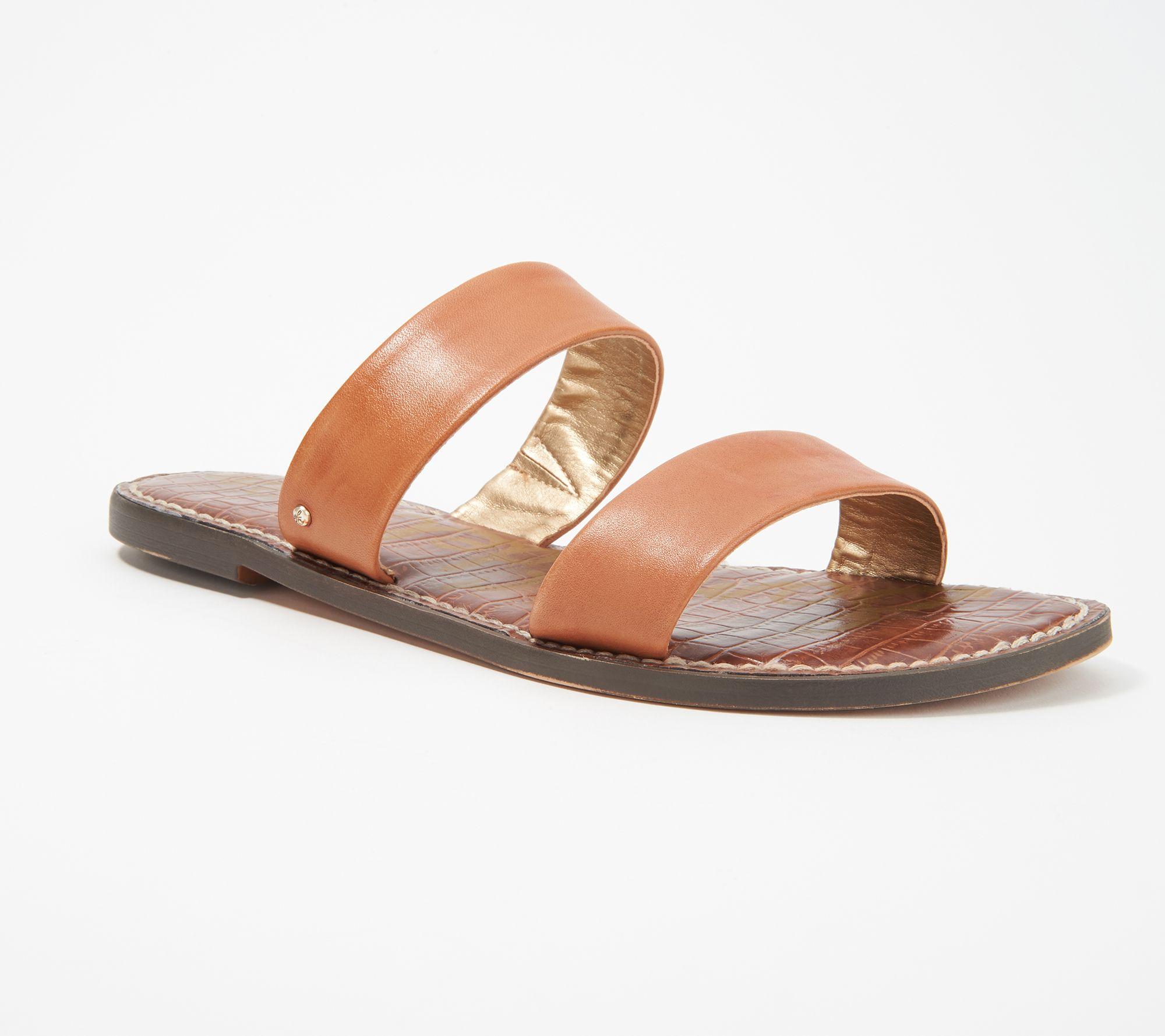 b05a73c31 Sam Edelman Leather Double Strap Slide Sandals - Gala — QVC.com