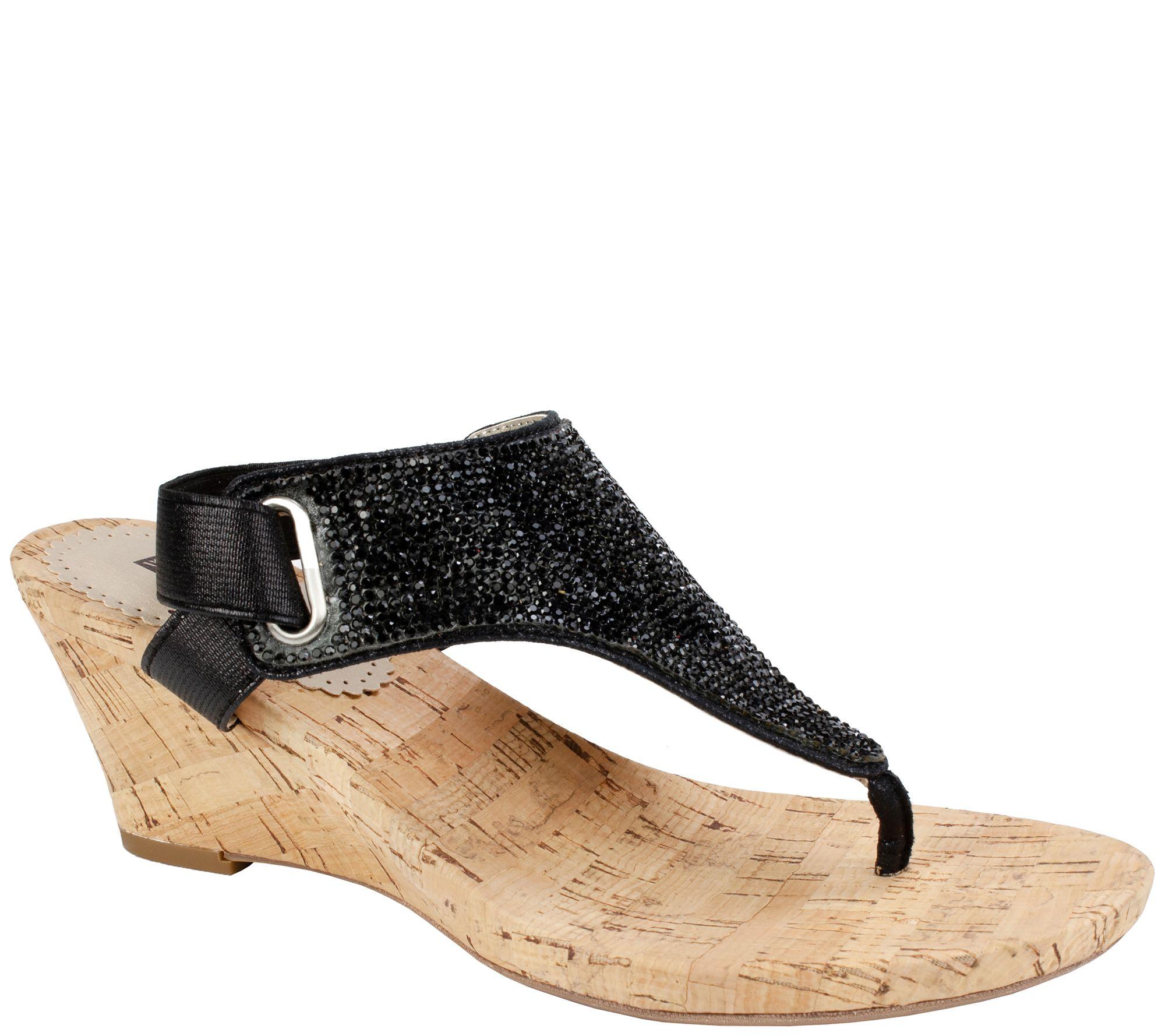 9b8b9ca146 White Mountain Cork Wedge Thong Sandals - Allegheny — QVC.com