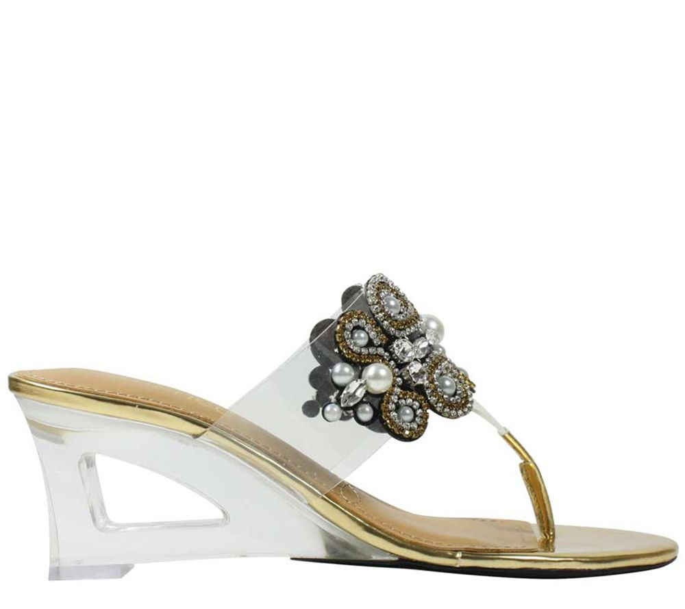 bc799d519715 J. Renee Thong Sandals - Darshana — QVC.com