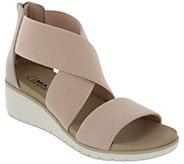 MIA Amore Criss-Cross Elastic Wedge Sandals - Casandraa - A426516