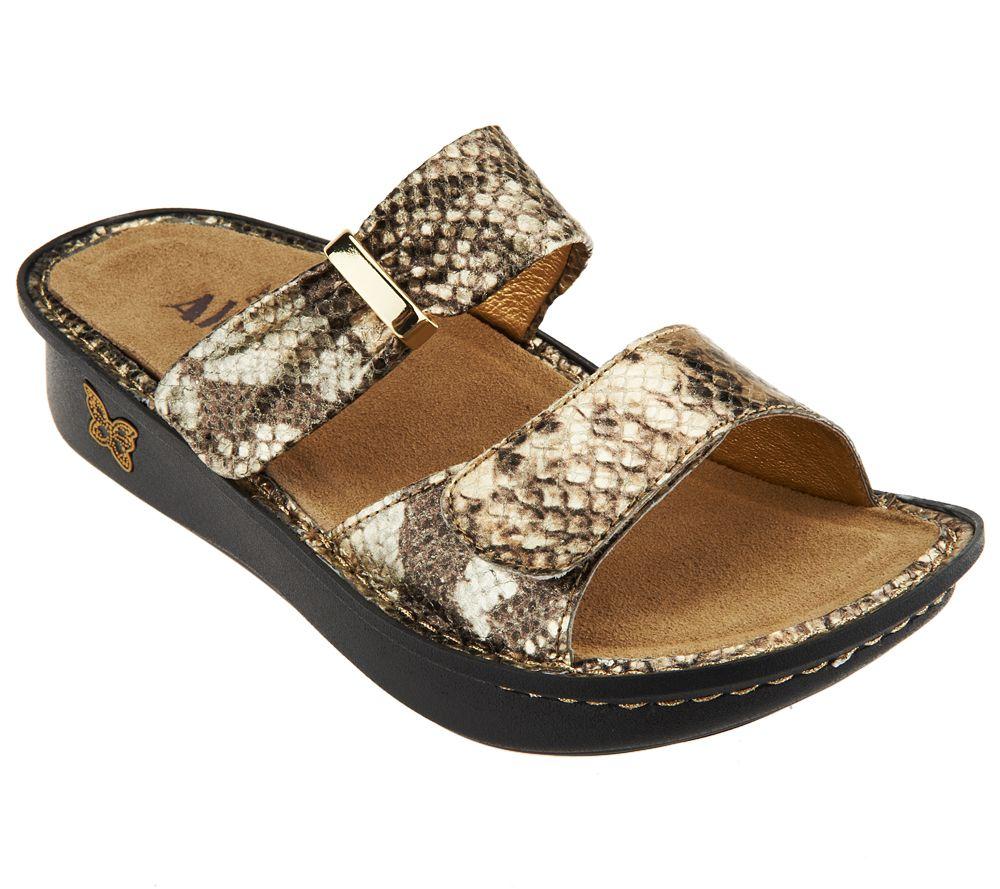 15d76b8f3 Alegria Leather Double Strap Slide Sandals - Karmen - Page 1 — QVC.com