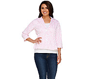 Joan Rivers Polka Dot Signature Jacket with 3/4 Sleeves - A262517