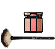 EVE PEARL Blush Trio Palette with Fan Brush - A266417