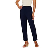 Susan Graver Dolce Knit Comfort Waist Pull-On Ankle Pants - A274517