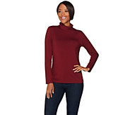 Susan Graver Modern Essentials Cotton Modal Turtleneck Top - A282117