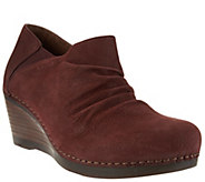 Dansko Leather Ruched Wedge Boots - Sheena - A284017
