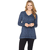 Isaac Mizrahi Live! SOHO Long Sleeve Printed Knit Top - A284417