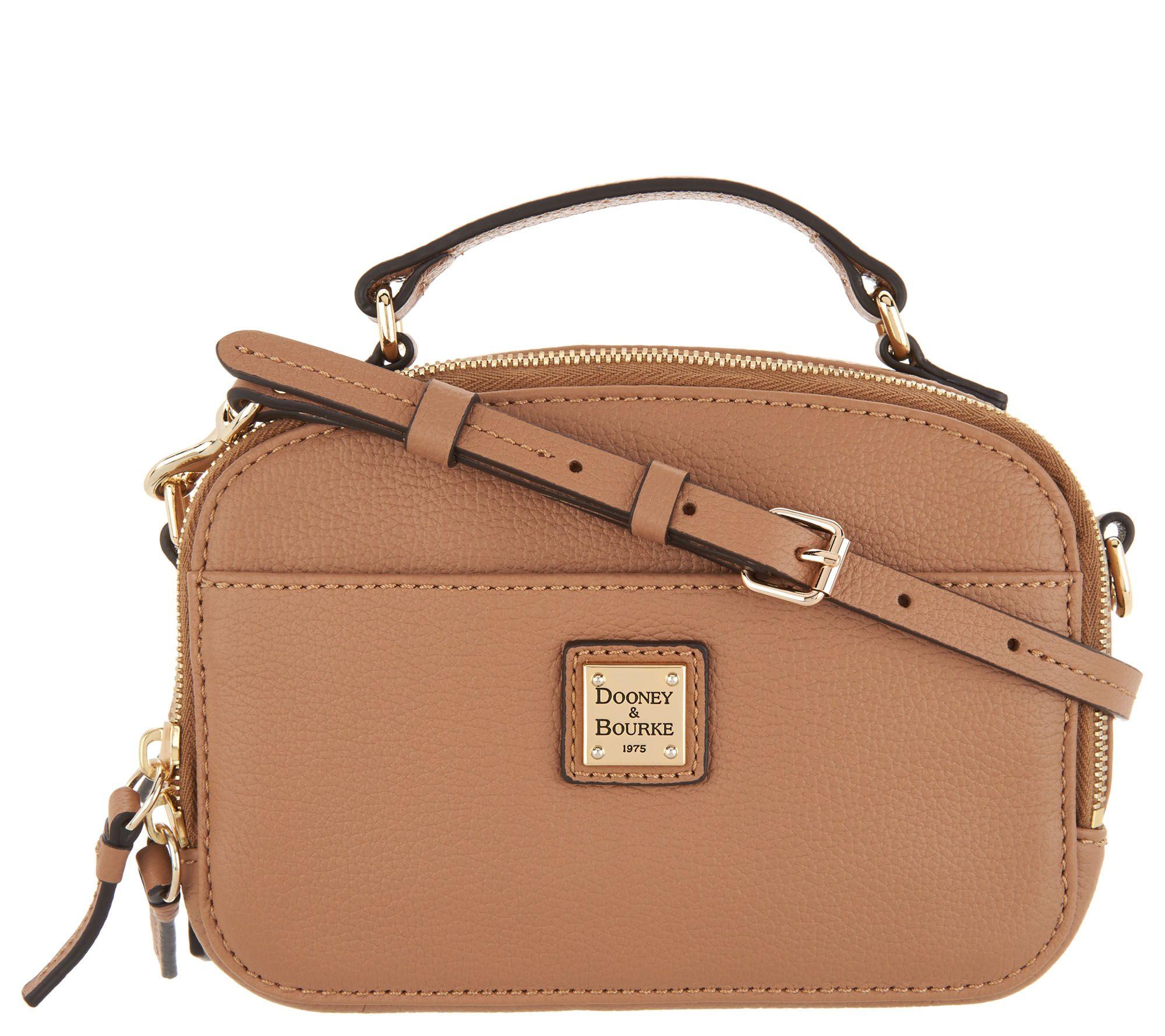 Dooney & Bourke Belvedere Leather Crossbody Handbag - Page 1 — QVC.com
