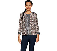 Joan Rivers Moroccan Spice Knit Jacket w/ 3/4 Sleeves - A293017