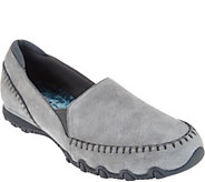 As Is Skechers Relaxed Fit Suede Slip-On Shoes-Alumni - A310317