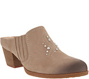 Earth Nubuck Western Detailed Mules - Mendon - A311517