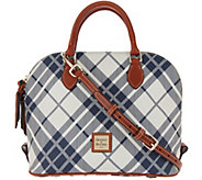Dooney & Bourke Coated Cotton Plaid Zip Zip Satchel - A342817