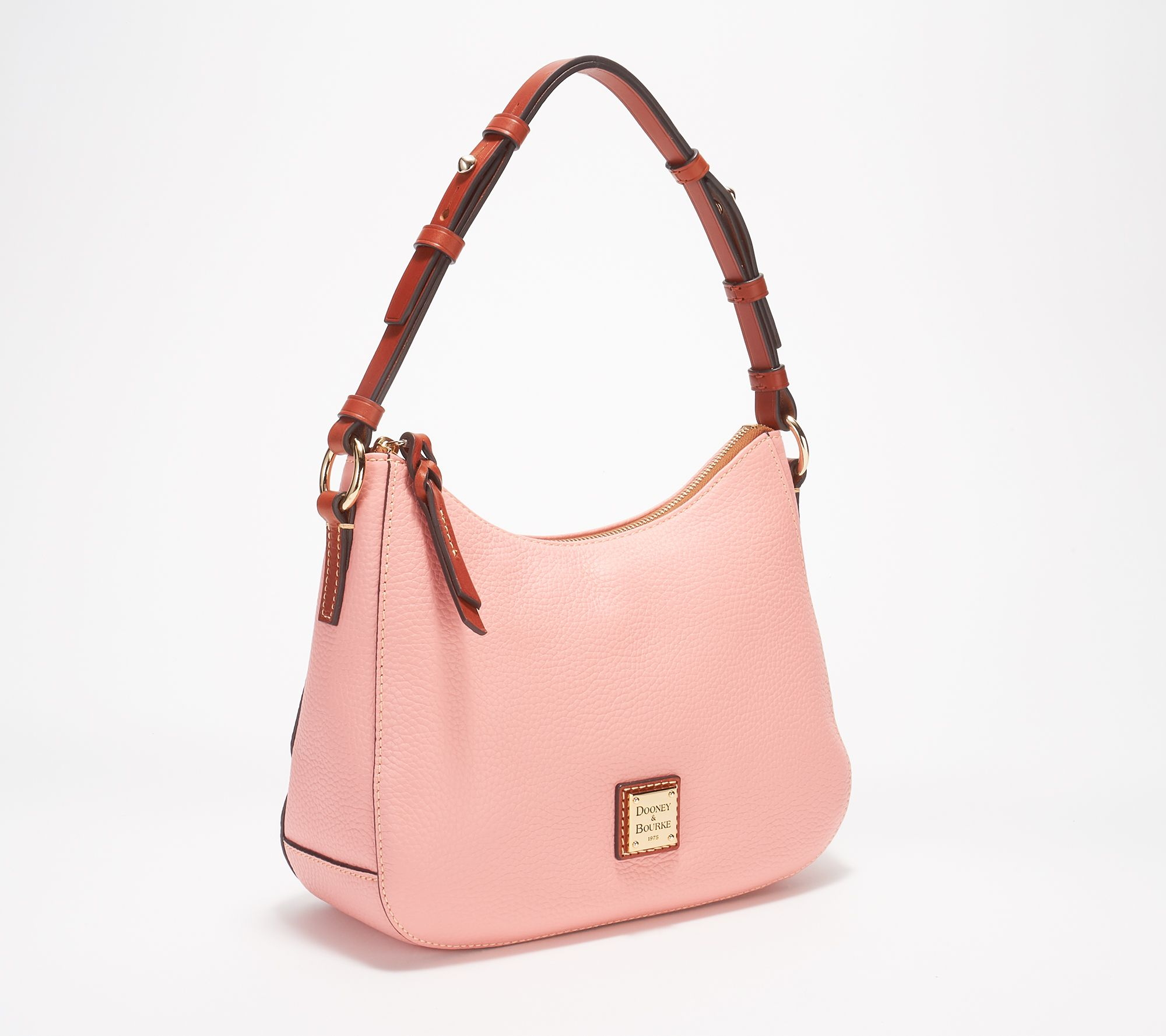 809bf5a706 Dooney   Bourke Pebble Leather Small Kiley Hobo - Page 1 — QVC.com