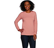 Denim & Co. Essentials Long Sleeve Pull-over Knit Top - A240618