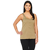 G.I.L.I. Sleeveless Scoop Neck Top with Seaming Detail - A262718