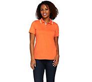 Susan Graver Butterknit Short Sleeve Polo Shirt - A276418
