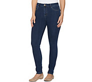 LOGO by Lori Goldstein Regular 5-Pocket Skinny Jeans - A281118