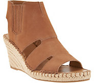 Franco Sarto Leather Cut-out Espadrille Wedges - Nola - A288518