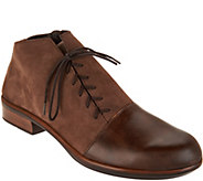 Naot Leather Outside Lace-up Ankle Boots - Camden - A297318