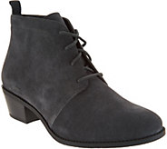 Vionic Suede Lace-up Ankle Boots - Andi - A298118