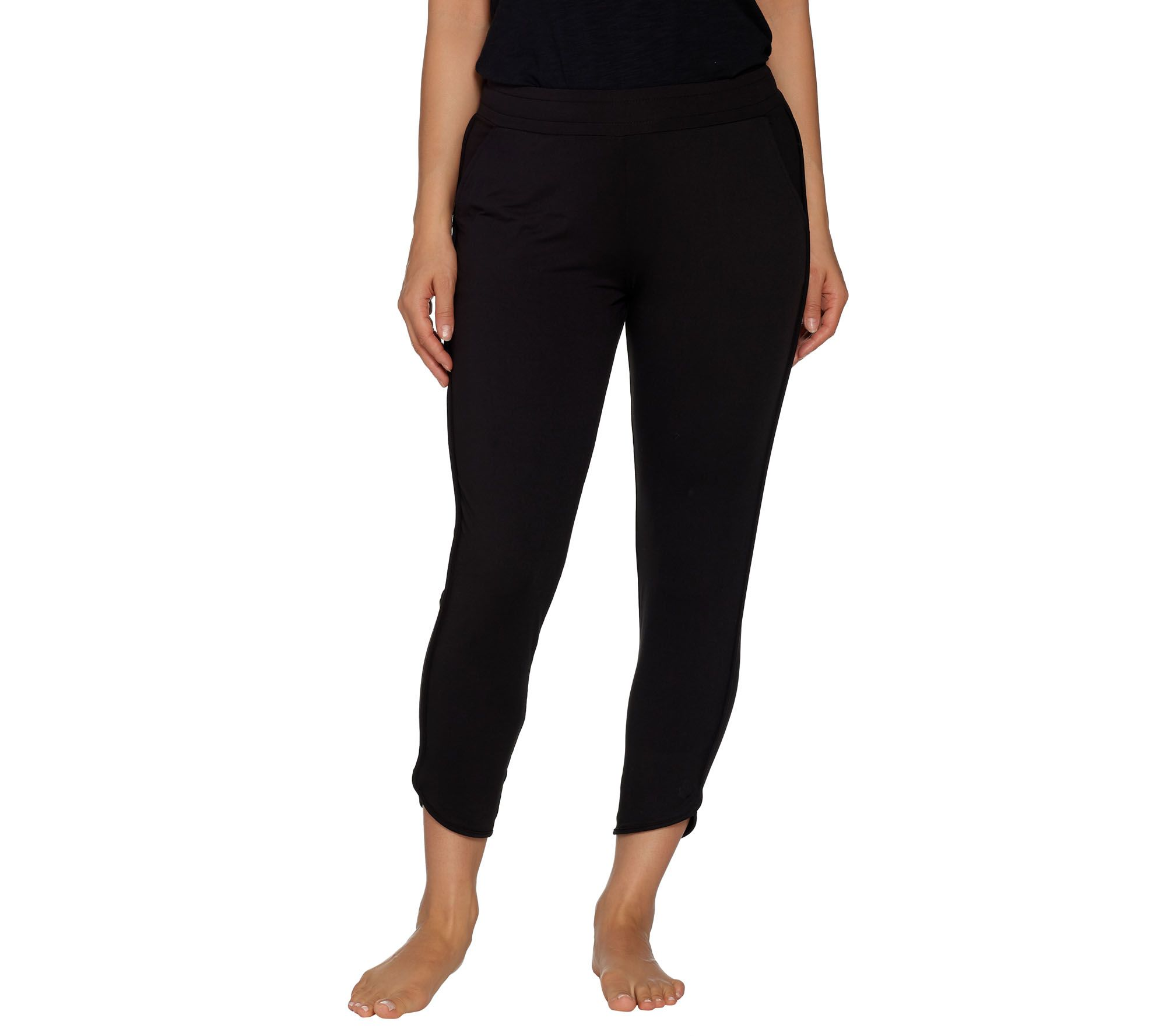 Cuddl Duds Flexwear Ankle Pants Navy L NEW A302818