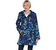 Dennis Basso Water Resistant Printed Jacket with Trim - A310218
