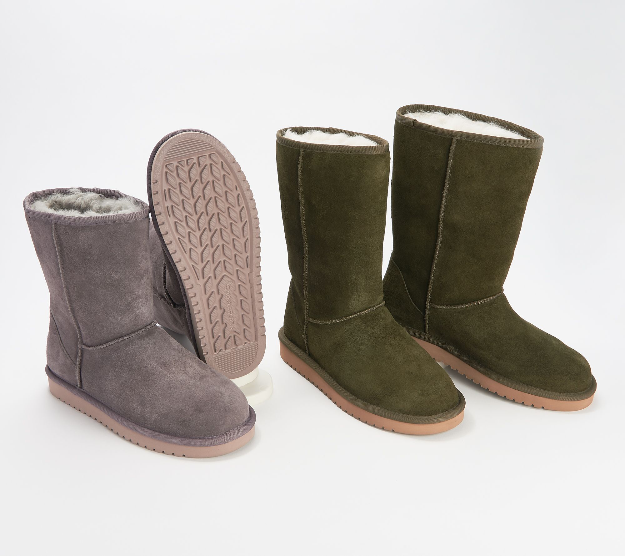 1282f0bd466 Koolaburra by UGG Choice of Suede Tall or Short Boots - Koola — QVC.com