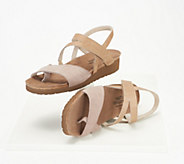 Naot Nubuck_Leather Backstrap Wedge Sandals - Blaire - A349618