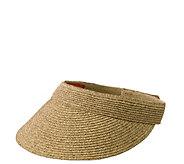 San Diego Hat Co. Ultrabraid Visor with StretchSweatband - A414718