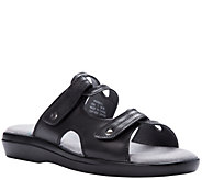 Propet Leather Slide Sandals with Ortholite Foam - Marina - A423518