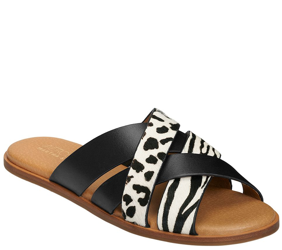 d254343c2e08 Aerosoles x Martha Stewart Cross Band Flat Sandals - Pilot — QVC.com