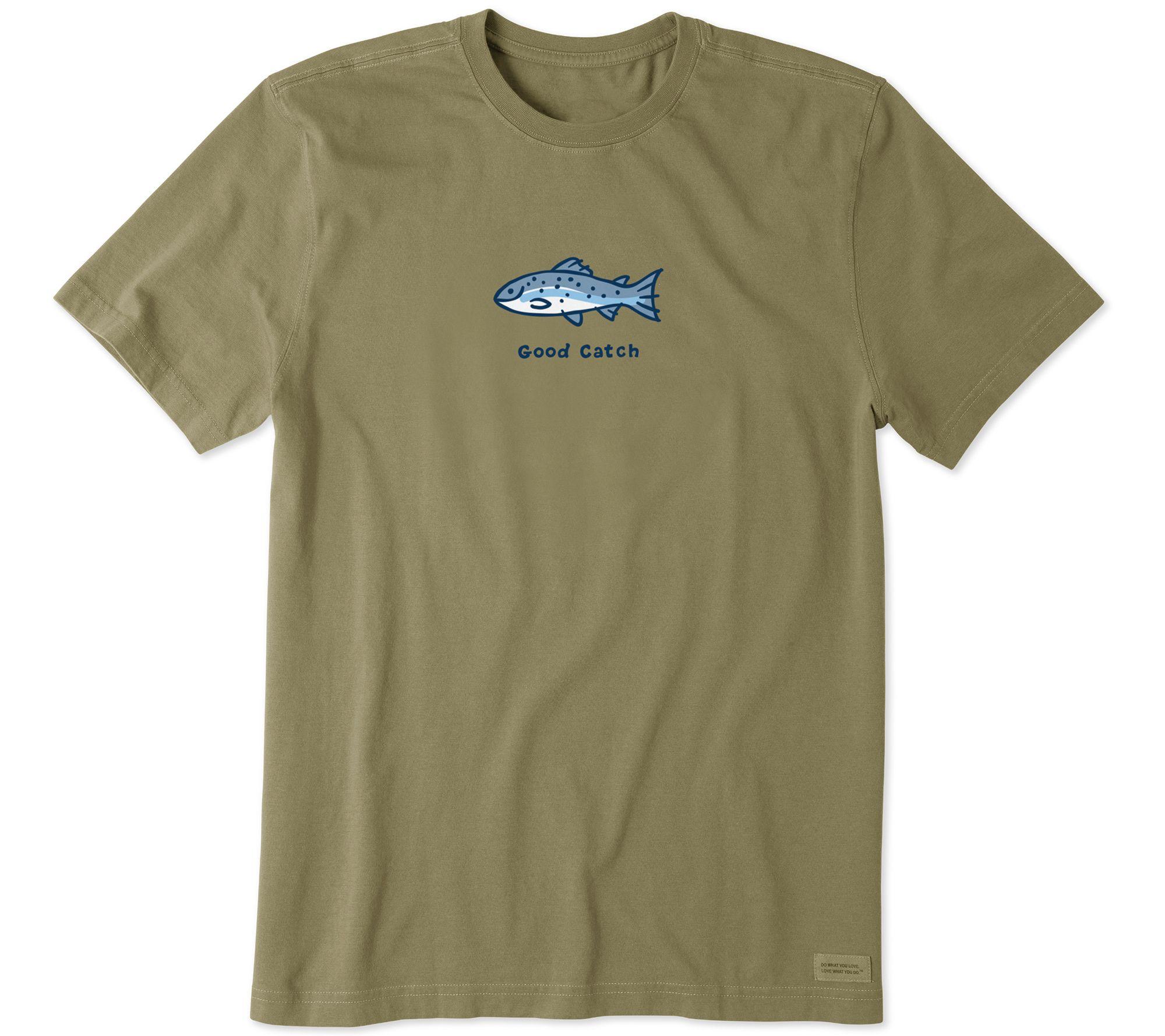 a5d16bdd0556 Life is Good Men s Vintage Good Catch Crusher T-Shirt — QVC.com