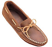 Minnetonka Mens Double Bottom Softsole Moccasins - Brown Ruf - A208719