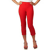 Isaac Mizrahi Live! 24/7 Stretch Cropped Pull-On Pants - A223819