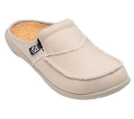 fa2abe0d63faa Spenco Siesta Slide Orthotic Slip-on Shoes w/ Woven Detail — QVC.com