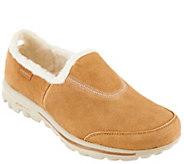 Skechers GOwalk Suede Faux Fur Shoes w/ Memory Form Fit - Comfy - A269619