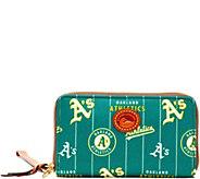 Dooney & Bourke MLB Nylon Athletics Zip Around Phone Wristlet - A281719