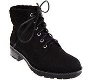 Vionic Lace-up Boots with Faux Fur Trim - Lolland - A283319