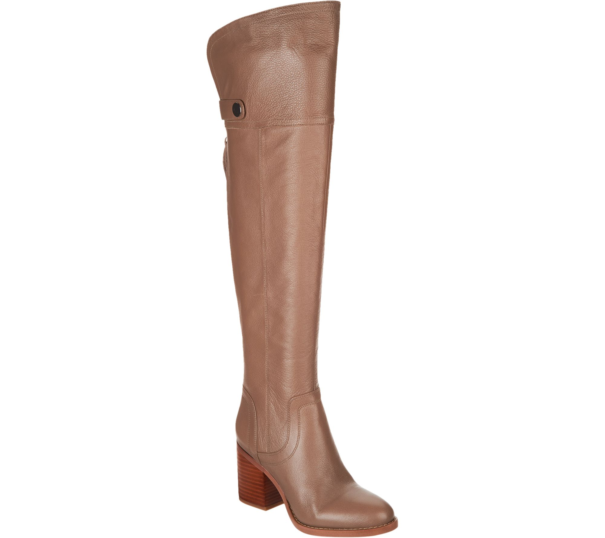 30b3faa299f Franco Sarto Medium Calf Leather Over-the-Knee Boots - Ollie - Page 1 —  QVC.com