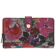 LODIS Leather RFID Checkbook Zip Organizer Wallet - A300619