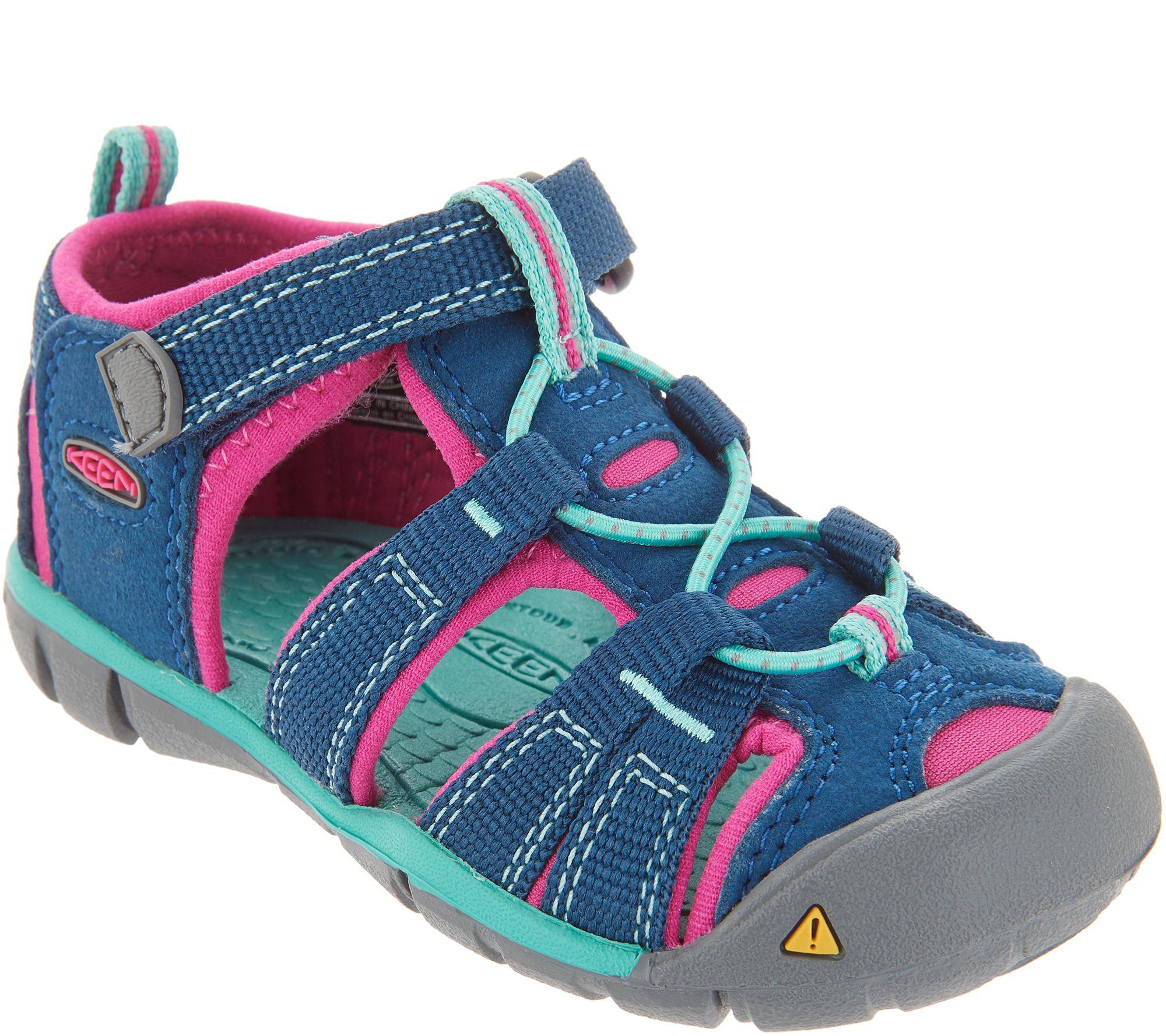 KEEN Girls Sport Sandals Toddler -Seacamp II CNX — QVC.com