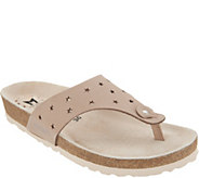 MEPHISTO Perforated Leather Thong Sandals - Nikie Star - A305419