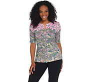 Isaac Mizrahi Live! Engineered Paisley Printed Cardigan - A308019