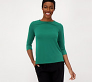Susan Graver Modern Essentials Liquid Knit Top - A308219