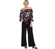 Susan Graver Petite Liquid Knit Jumpsuit with Pockets - A310119