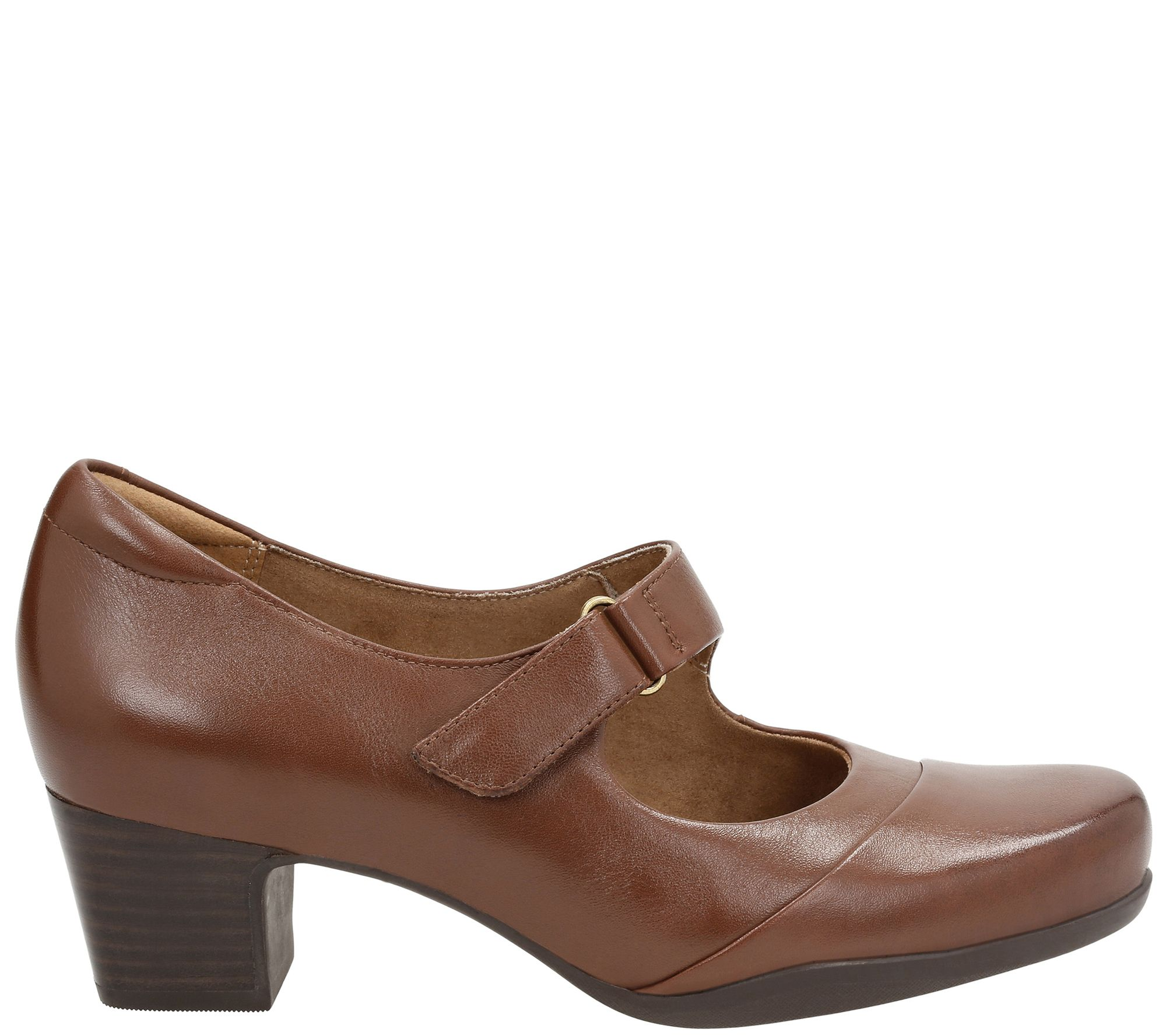 eb3a2053fb52 Clarks Artisan Leather Mary Jane Pumps - Rosalyn Wren - Page 1 — QVC.com