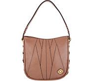 As Is ORYANY Pebble Leather & Suede Hobo Handbag - A347519