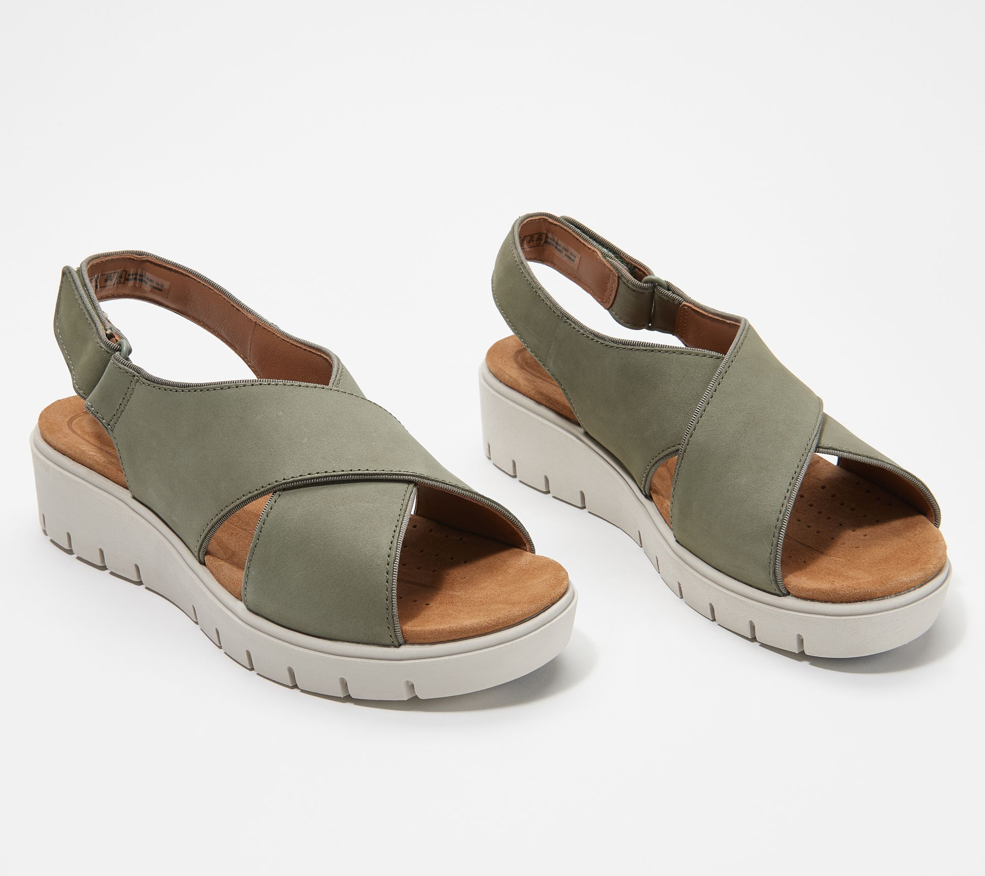 reasonable price suitable for men/women detailed look Clarks Unstructured Leather Cross- Strap Sandals - Un Karley Sun — QVC.com