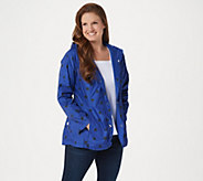 Isaac Mizrahi Live! Reversible Solid to Dot Raincoat - A351119