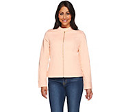 Isaac Mizrahi Live! 24/7 Colored Denim Zip Front Jacket - A272920